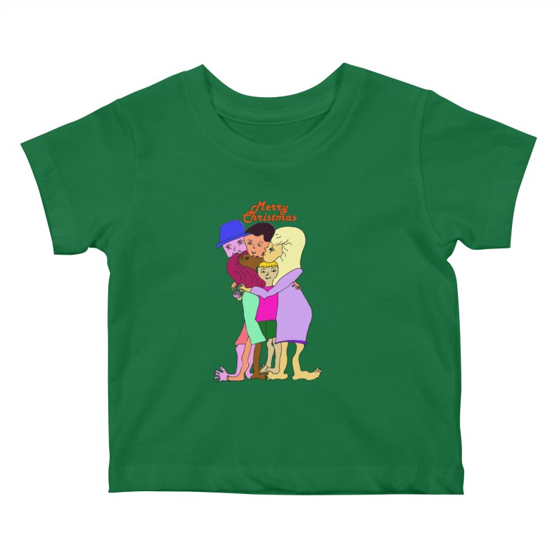 Family Christmas Kids Baby T-Shirt by Darabem's Artist Shop. Darabem Collection