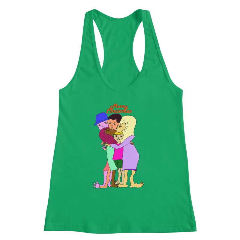 Family Christmas Women's Tank by Darabem's Artist Shop. Darabem Collection