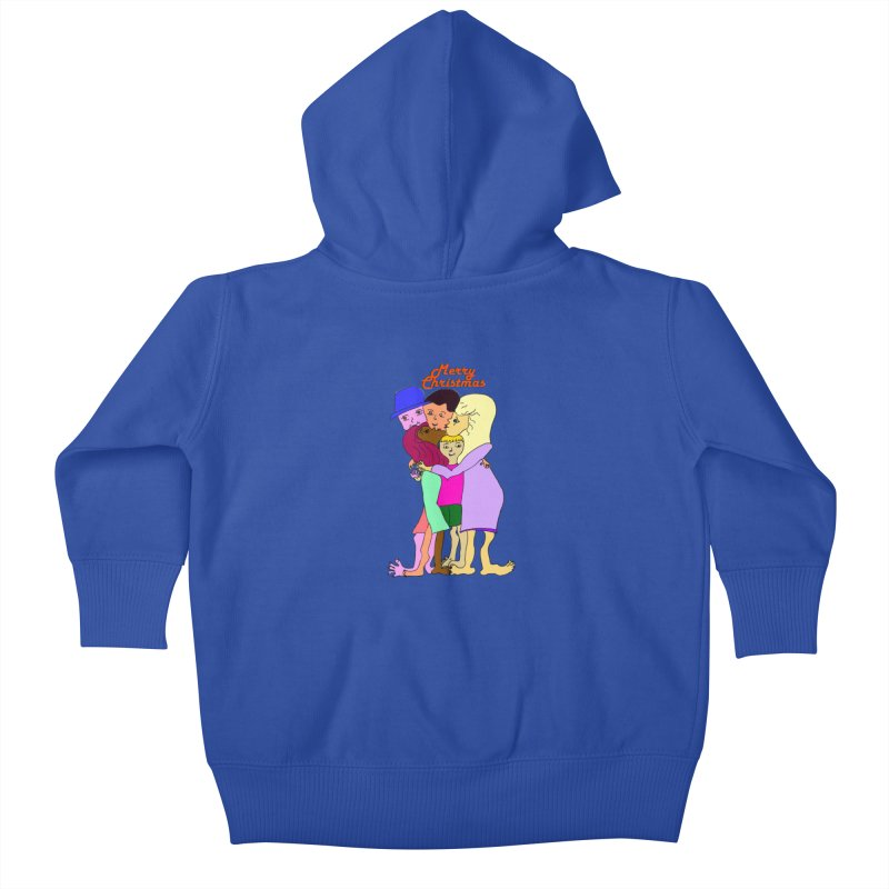 Family Christmas Kids Baby Zip-Up Hoody by Darabem's Artist Shop. Darabem Collection