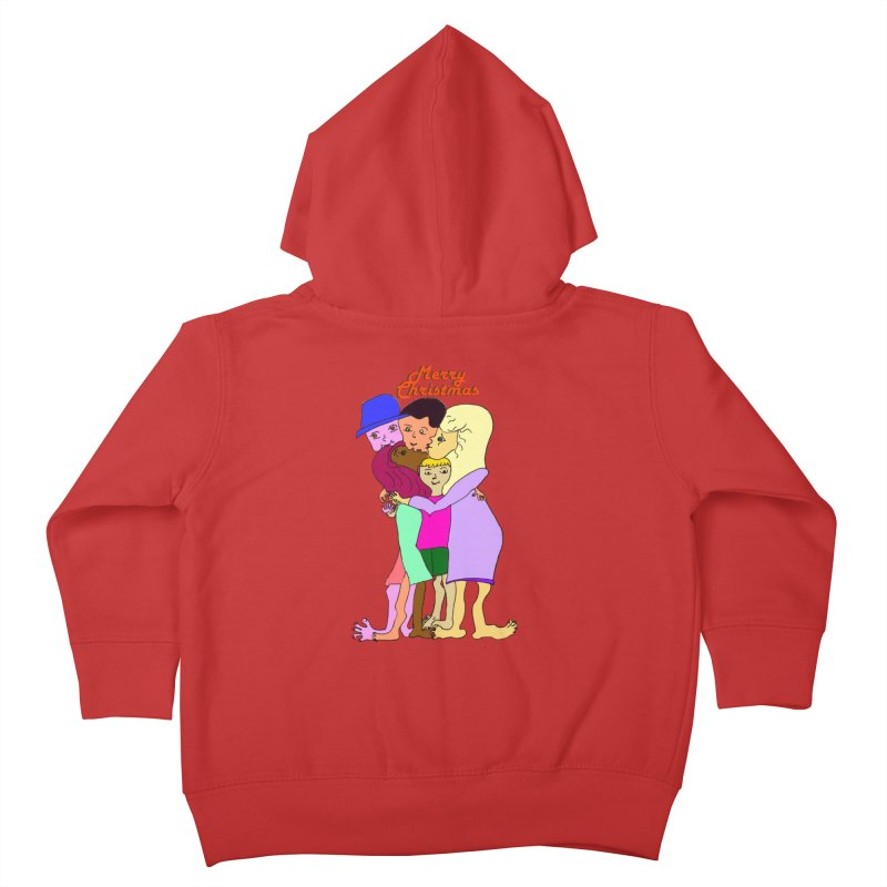 Family Christmas Kids Toddler Zip-Up Hoody by Darabem's Artist Shop. Darabem Collection
