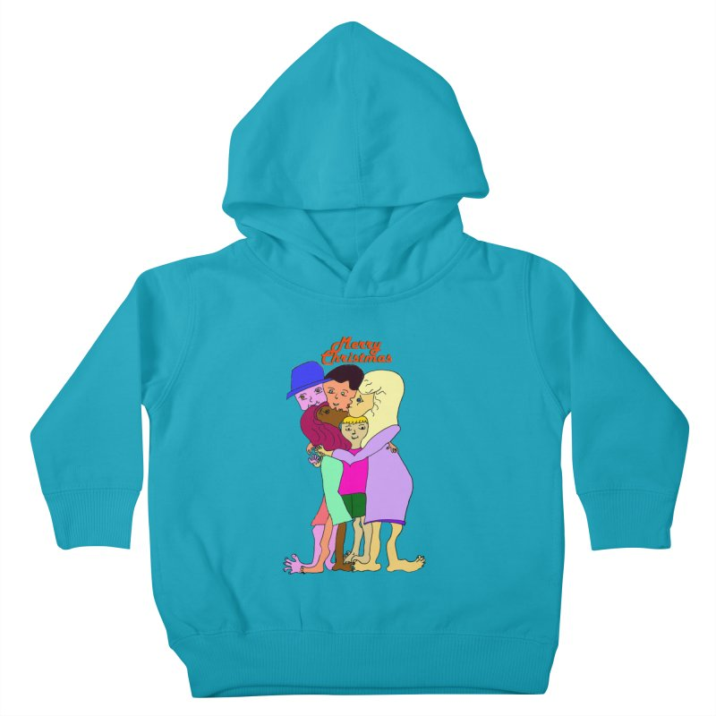 Family Christmas Kids Toddler Pullover Hoody by Darabem's Artist Shop. Darabem Collection