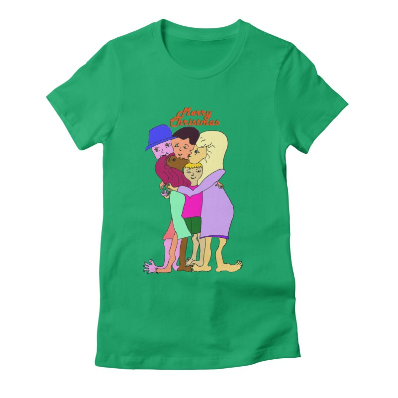 Family Christmas Women's T-Shirt by Darabem's Artist Shop. Darabem Collection
