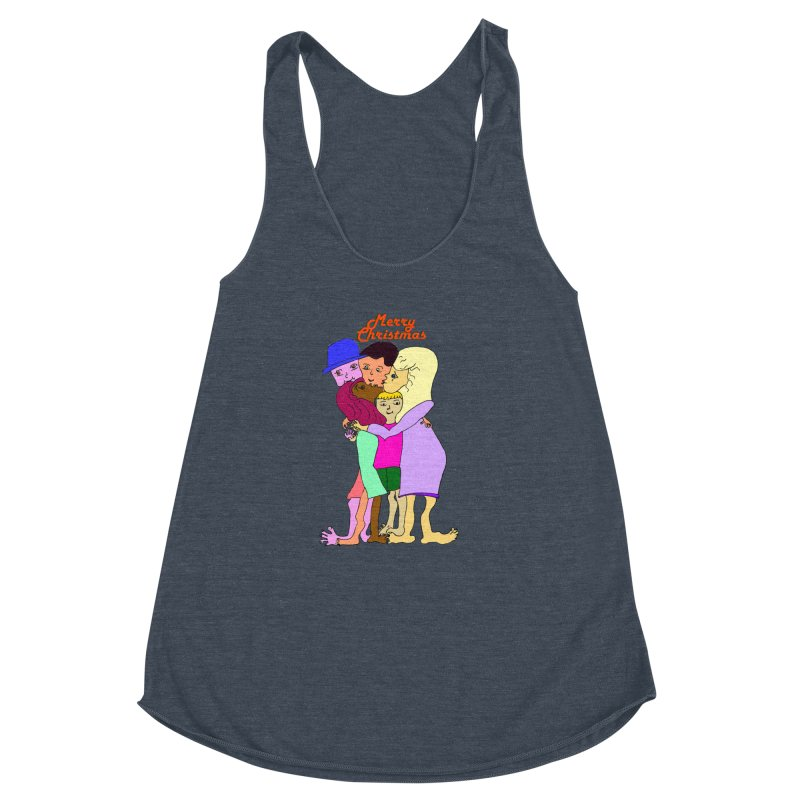 Family Christmas Women's Racerback Triblend Tank by Darabem's Artist Shop. Darabem Collection