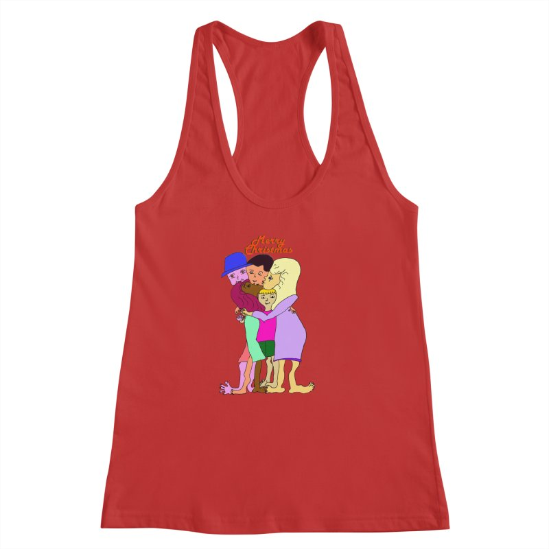 Family Christmas Women's Racerback Tank by Darabem's Artist Shop. Darabem Collection