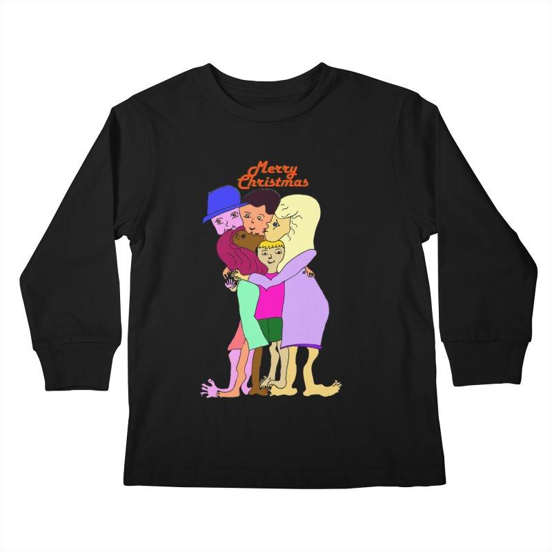 Family Christmas Kids Longsleeve T-Shirt by Darabem's Artist Shop. Darabem Collection