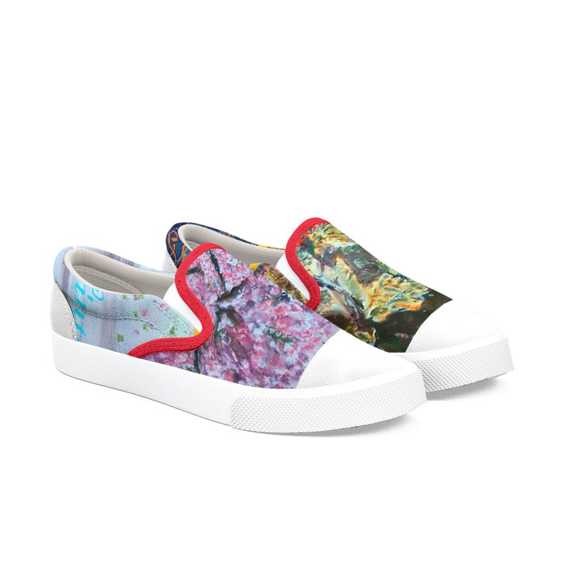 The Four Seasons Matsuo Basho Men's Slip-On Shoes by Darabem's Artist Shop. Darabem Collection