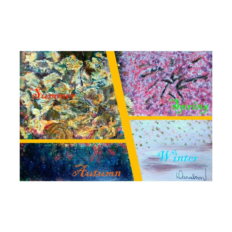 The Four Seasons Matsuo Basho Home Mounted Aluminum Print by Darabem's Artist Shop. Darabem Collection