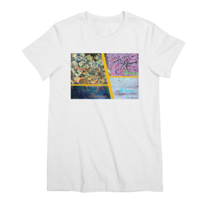 The Four Seasons Matsuo Basho Women's Premium T-Shirt by Darabem's Artist Shop. Darabem Collection
