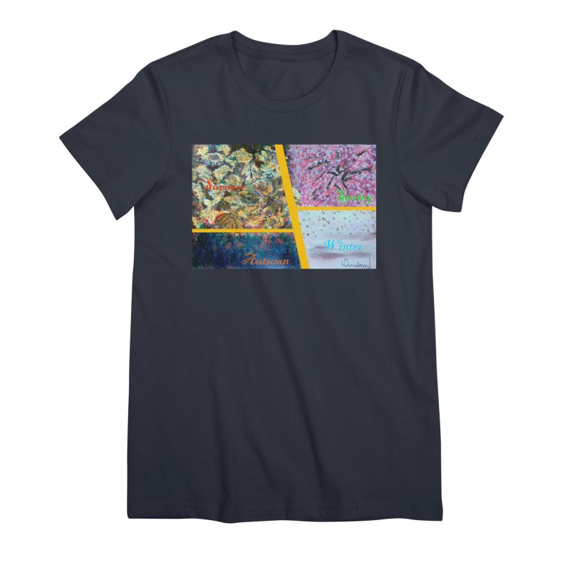 The Four Seasons Matsuo Basho Women's Premium T-Shirt by Darabem's Artist Shop. Darabem Collection