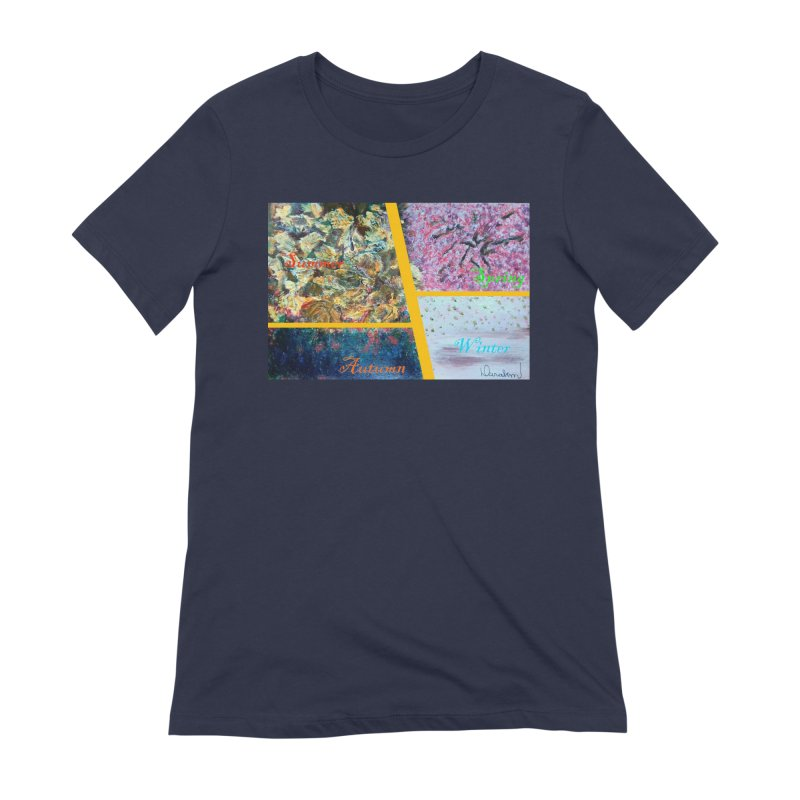 The Four Seasons Matsuo Basho Women's Extra Soft T-Shirt by Darabem's Artist Shop. Darabem Collection