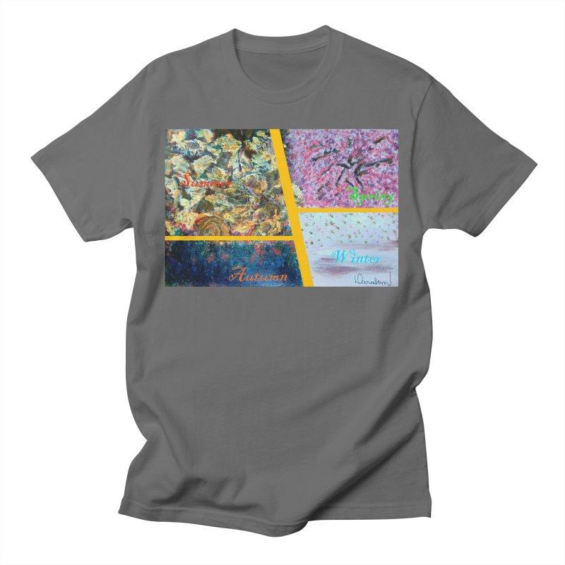 The Four Seasons Matsuo Basho Men's T-Shirt by Darabem's Artist Shop. Darabem Collection