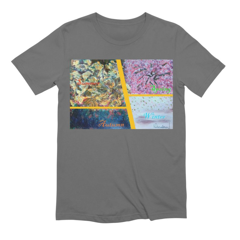 The Four Seasons Matsuo Basho Men's T-Shirt by Darabem's Artist Shop. Darabem Collection