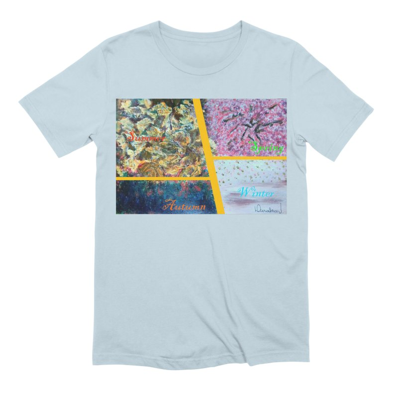 The Four Seasons Matsuo Basho Men's Extra Soft T-Shirt by Darabem's Artist Shop. Darabem Collection