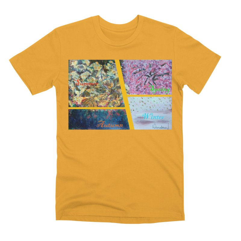 The Four Seasons Matsuo Basho Men's Premium T-Shirt by Darabem's Artist Shop. Darabem Collection