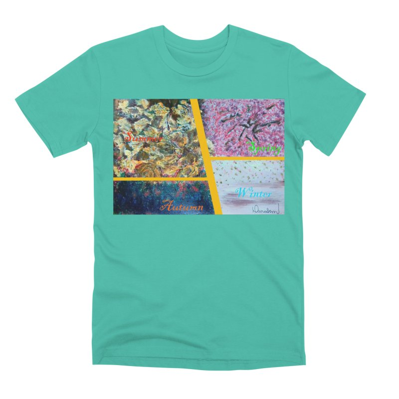 The Four Seasons Matsuo Basho Men's Premium T-Shirt by Darabem's Artist Shop. Darabem Collection