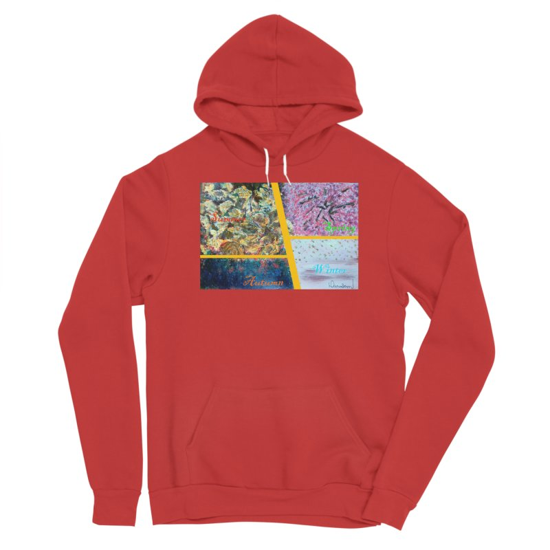 The Four Seasons Matsuo Basho Men's Pullover Hoody by Darabem's Artist Shop. Darabem Collection