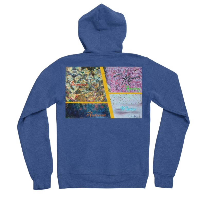 The Four Seasons Matsuo Basho Men's Sponge Fleece Zip-Up Hoody by Darabem's Artist Shop. Darabem Collection