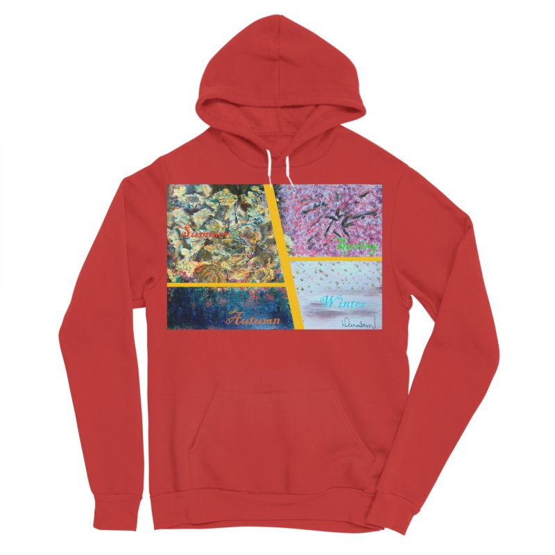The Four Seasons Matsuo Basho Men's Sponge Fleece Pullover Hoody by Darabem's Artist Shop. Darabem Collection