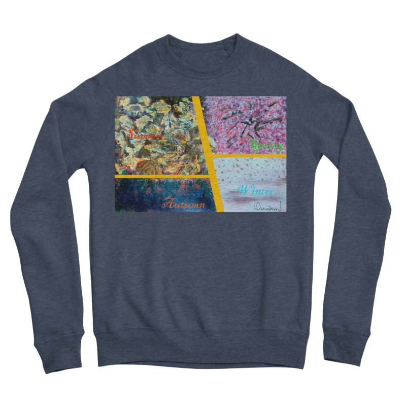 The Four Seasons Matsuo Basho Men's Sponge Fleece Sweatshirt by Darabem's Artist Shop. Darabem Collection