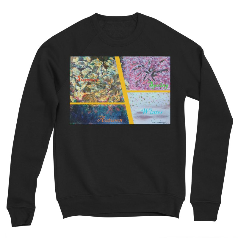 The Four Seasons Matsuo Basho Men's Sponge Fleece Sweatshirt by Darabem's Artist Shop. Darabem Collection