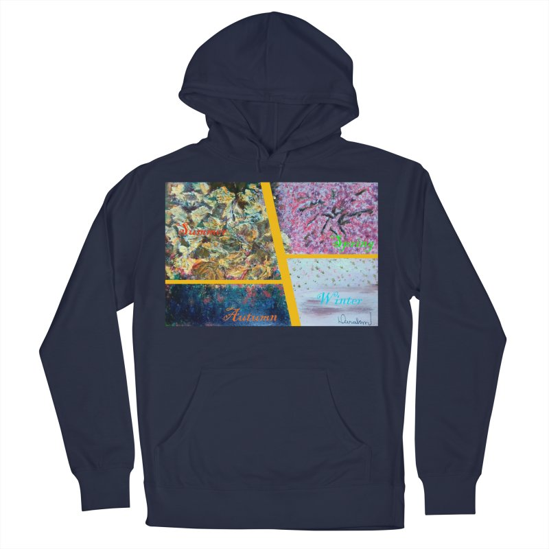 The Four Seasons Matsuo Basho Women's French Terry Pullover Hoody by Darabem's Artist Shop. Darabem Collection