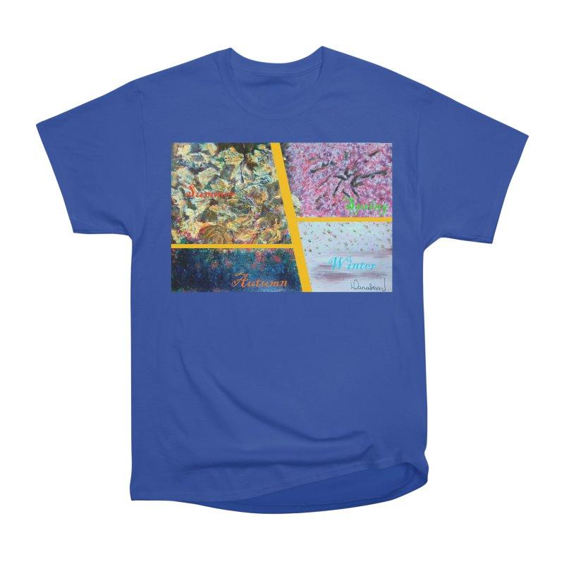 The Four Seasons Matsuo Basho Men's Heavyweight T-Shirt by Darabem's Artist Shop. Darabem Collection