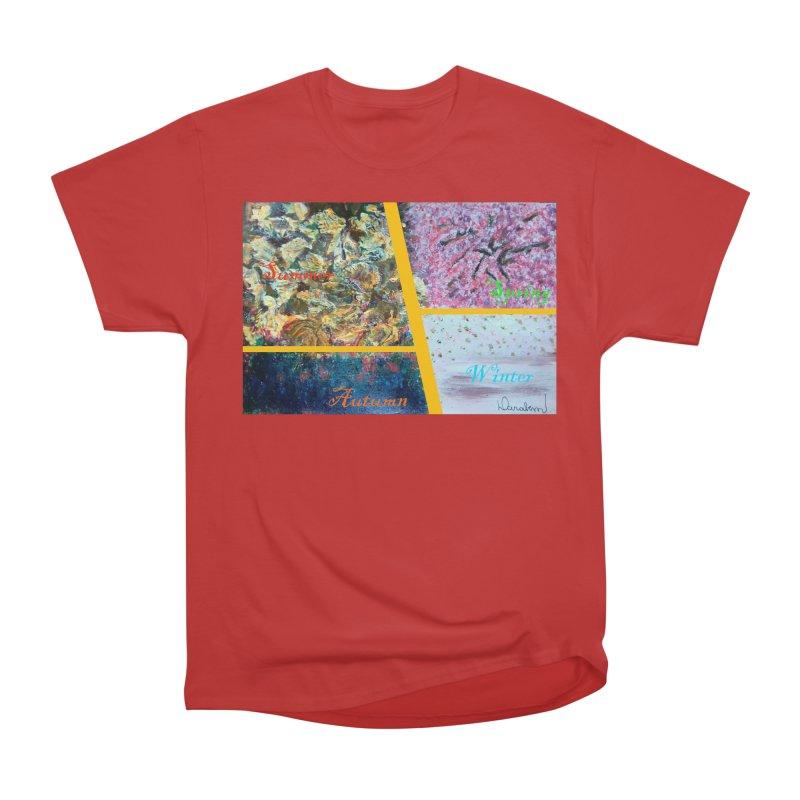 The Four Seasons Matsuo Basho Women's Heavyweight Unisex T-Shirt by Darabem's Artist Shop. Darabem Collection