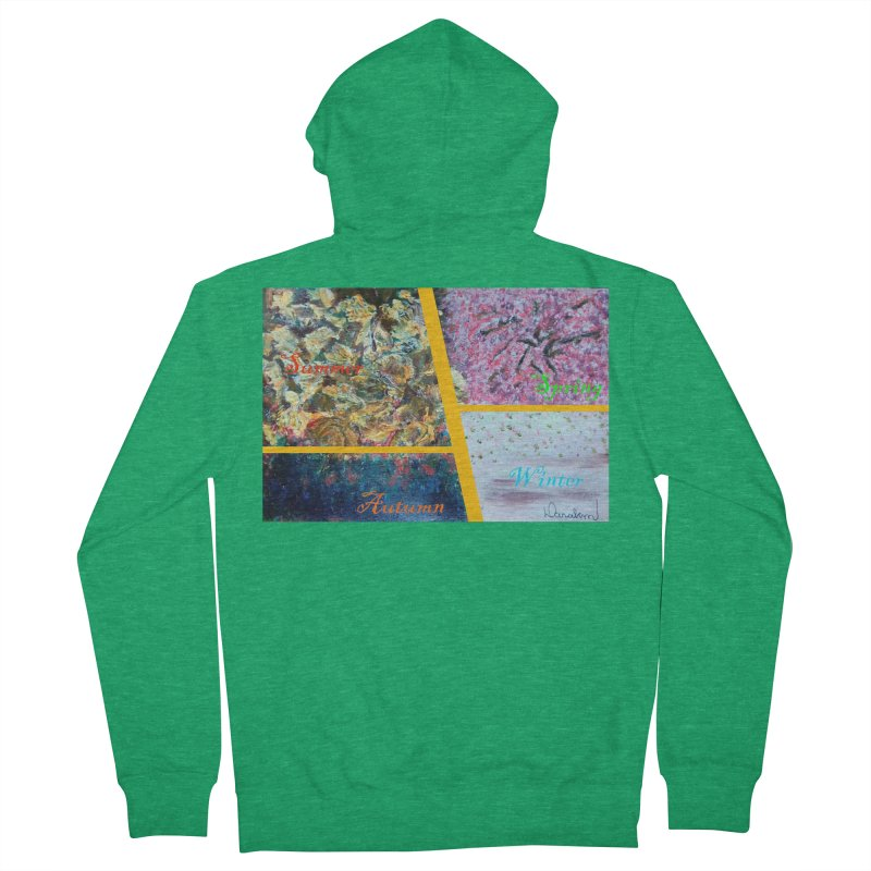 The Four Seasons Matsuo Basho Women's Zip-Up Hoody by Darabem's Artist Shop. Darabem Collection