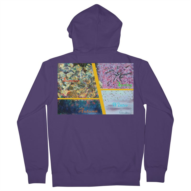 The Four Seasons Matsuo Basho Women's French Terry Zip-Up Hoody by Darabem's Artist Shop. Darabem Collection