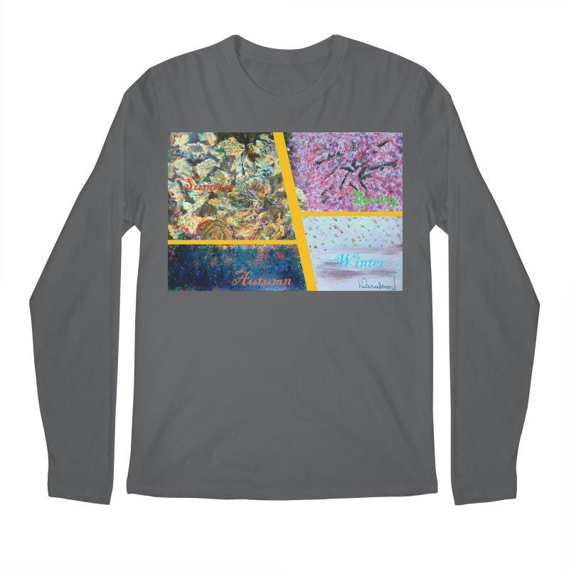 The Four Seasons Matsuo Basho Men's Longsleeve T-Shirt by Darabem's Artist Shop. Darabem Collection