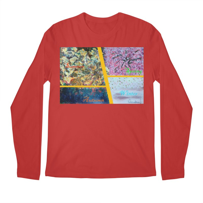 The Four Seasons Matsuo Basho Men's Regular Longsleeve T-Shirt by Darabem's Artist Shop. Darabem Collection