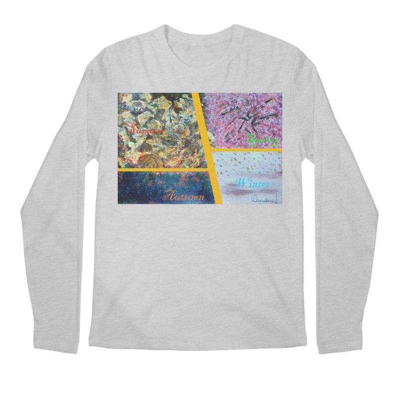 The Four Seasons Matsuo Basho Men's Regular Longsleeve T-Shirt by Darabem's Artist Shop. Darabem Collection