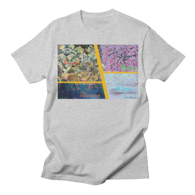 The Four Seasons Matsuo Basho Men's Regular T-Shirt by Darabem's Artist Shop. Darabem Collection