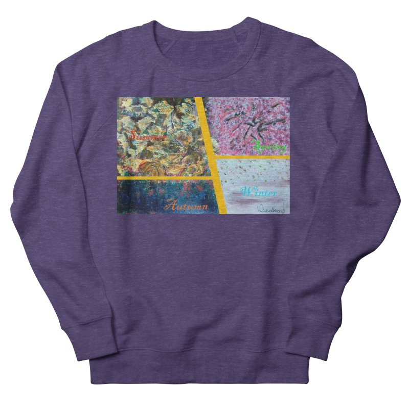 The Four Seasons Matsuo Basho Women's French Terry Sweatshirt by Darabem's Artist Shop. Darabem Collection