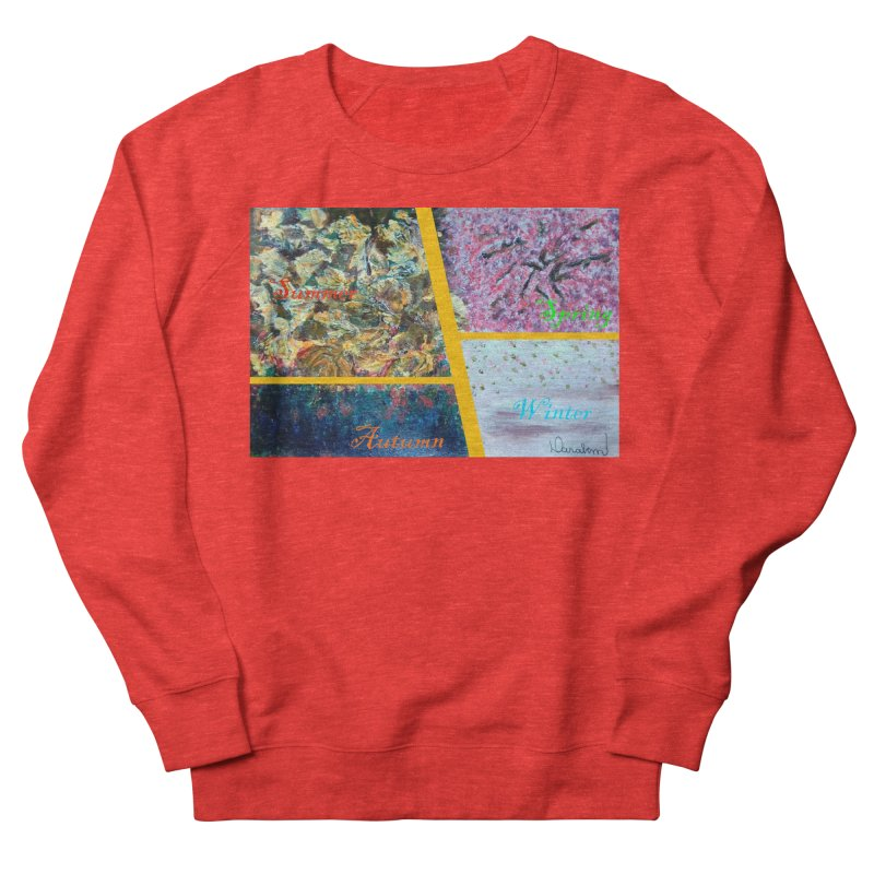 The Four Seasons Matsuo Basho Women's Sweatshirt by Darabem's Artist Shop. Darabem Collection