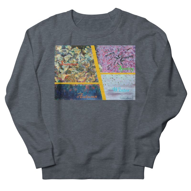 The Four Seasons Matsuo Basho Men's Sweatshirt by Darabem's Artist Shop. Darabem Collection