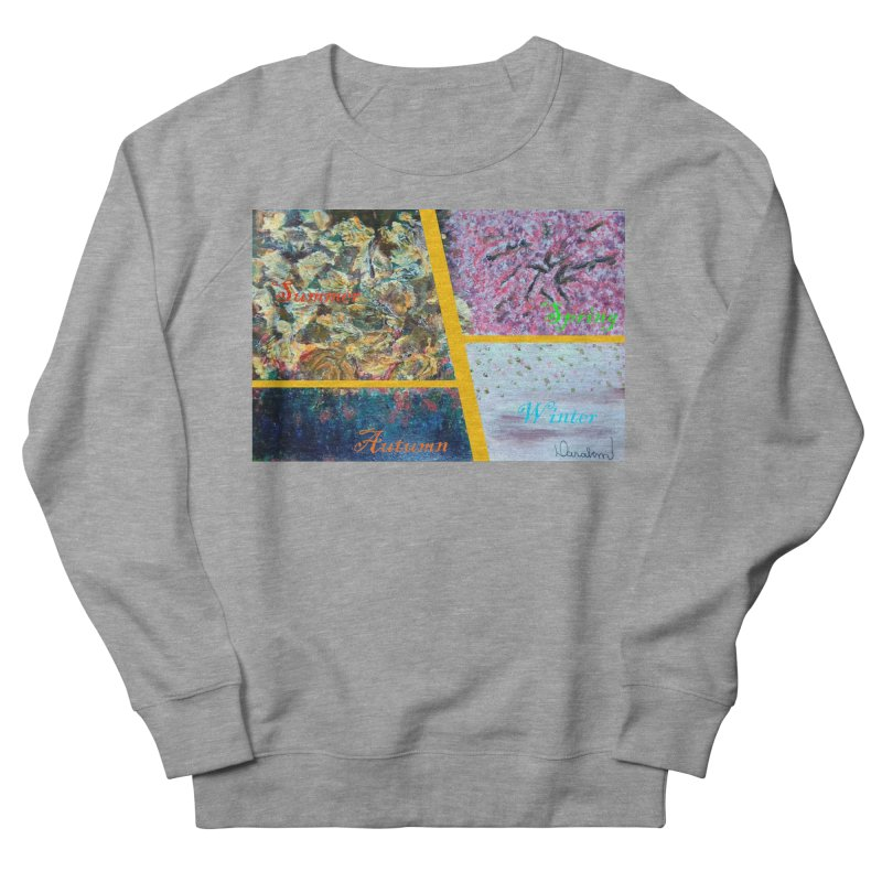 The Four Seasons Matsuo Basho Men's French Terry Sweatshirt by Darabem's Artist Shop. Darabem Collection
