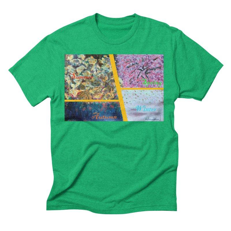 The Four Seasons Matsuo Basho Men's Triblend T-Shirt by Darabem's Artist Shop. Darabem Collection