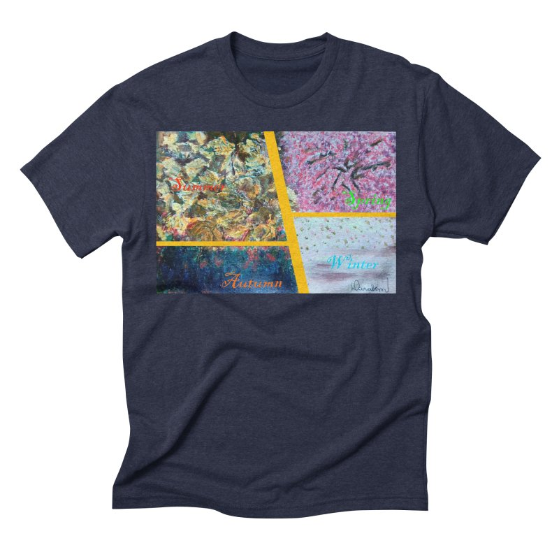 The Four Seasons Matsuo Basho Men's Triblend T-Shirt by Darabem's Artist Shop. Darabem Collection