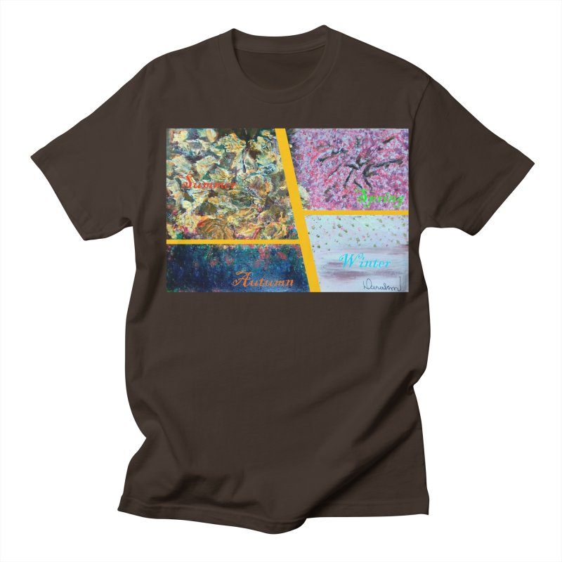 The Four Seasons Matsuo Basho Men's Regular T-Shirt by Darabem's Artist Shop. Darabem Collection