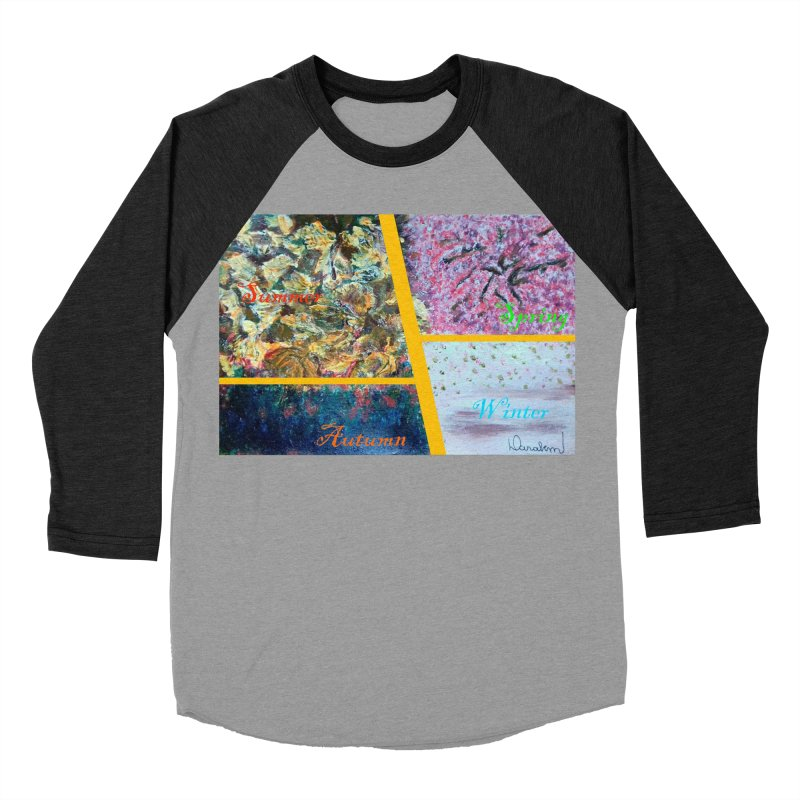 The Four Seasons Matsuo Basho Women's Baseball Triblend Longsleeve T-Shirt by Darabem's Artist Shop. Darabem Collection