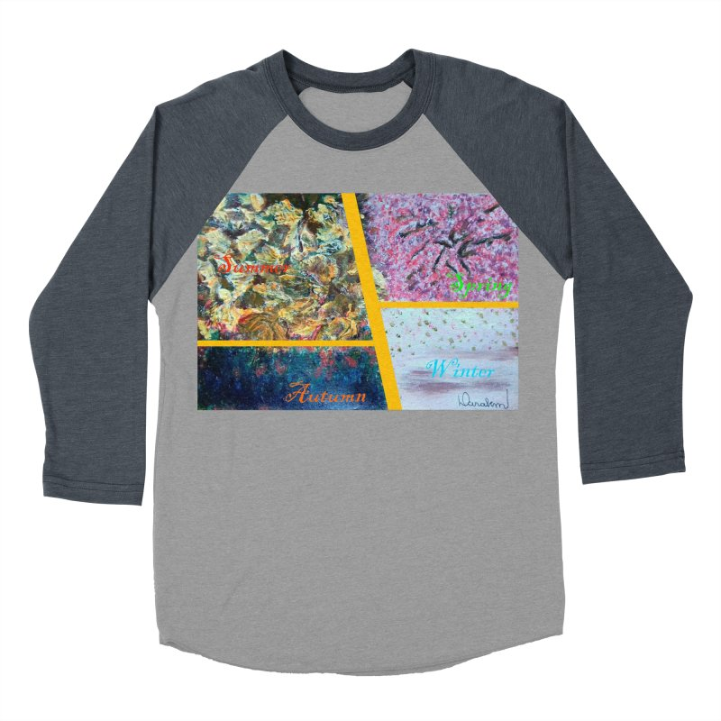 The Four Seasons Matsuo Basho Women's Baseball Triblend Longsleeve T-Shirt by Darabem's Artist Shop. Darabem Collection