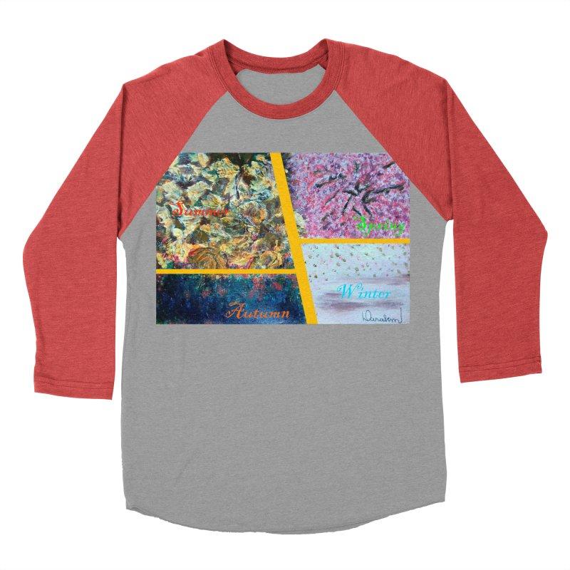 The Four Seasons Matsuo Basho Men's Baseball Triblend Longsleeve T-Shirt by Darabem's Artist Shop. Darabem Collection