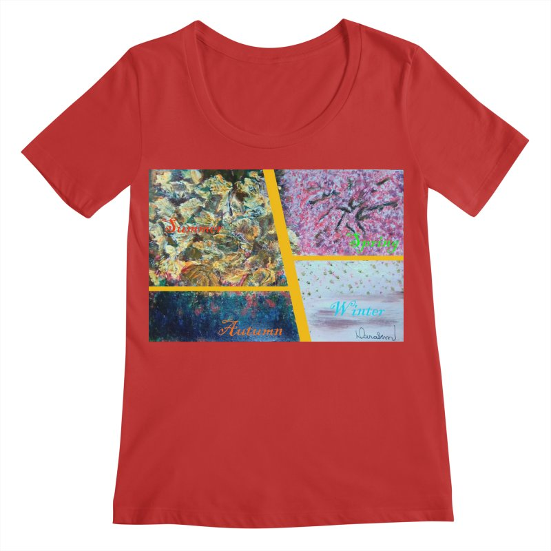 The Four Seasons Matsuo Basho Women's Regular Scoop Neck by Darabem's Artist Shop. Darabem Collection
