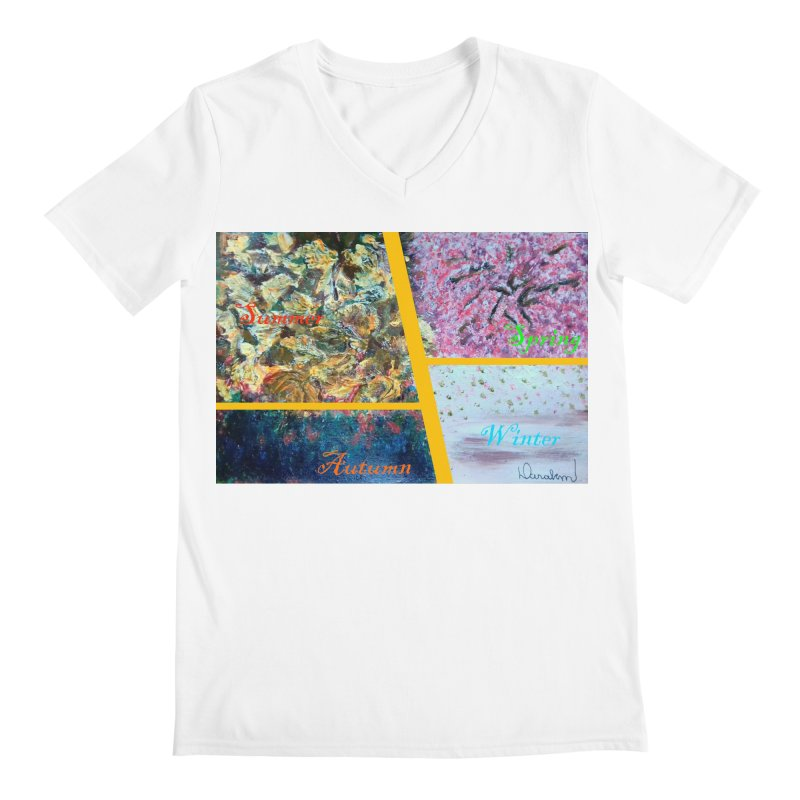 The Four Seasons Matsuo Basho Men's V-Neck by Darabem's Artist Shop. Darabem Collection