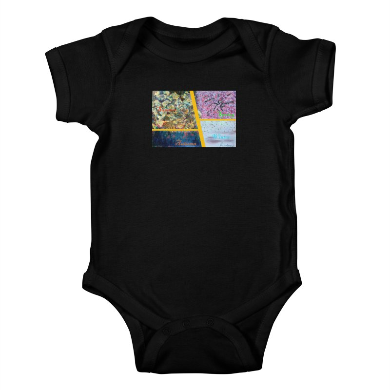 The Four Seasons Matsuo Basho Kids Baby Bodysuit by Darabem's Artist Shop. Darabem Collection