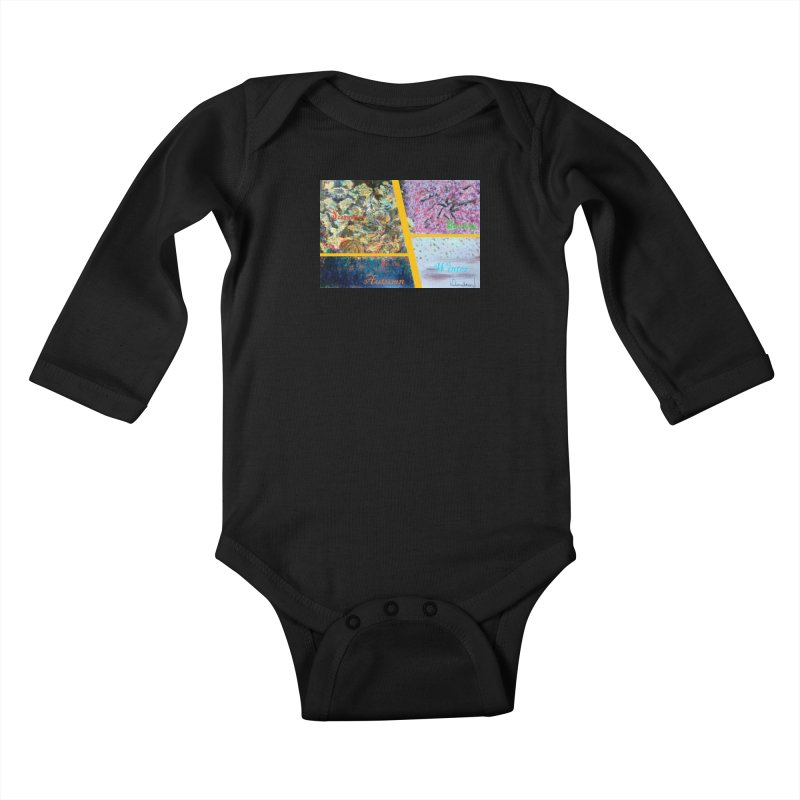 The Four Seasons Matsuo Basho Kids Baby Longsleeve Bodysuit by Darabem's Artist Shop. Darabem Collection