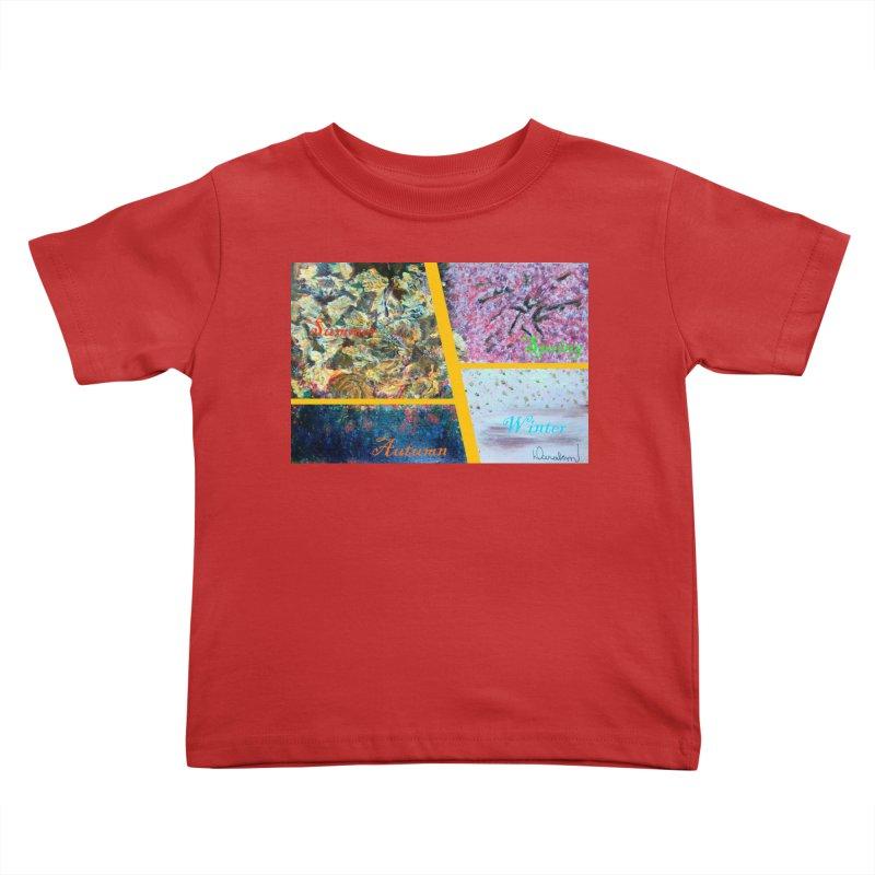 The Four Seasons Matsuo Basho Kids Toddler T-Shirt by Darabem's Artist Shop. Darabem Collection