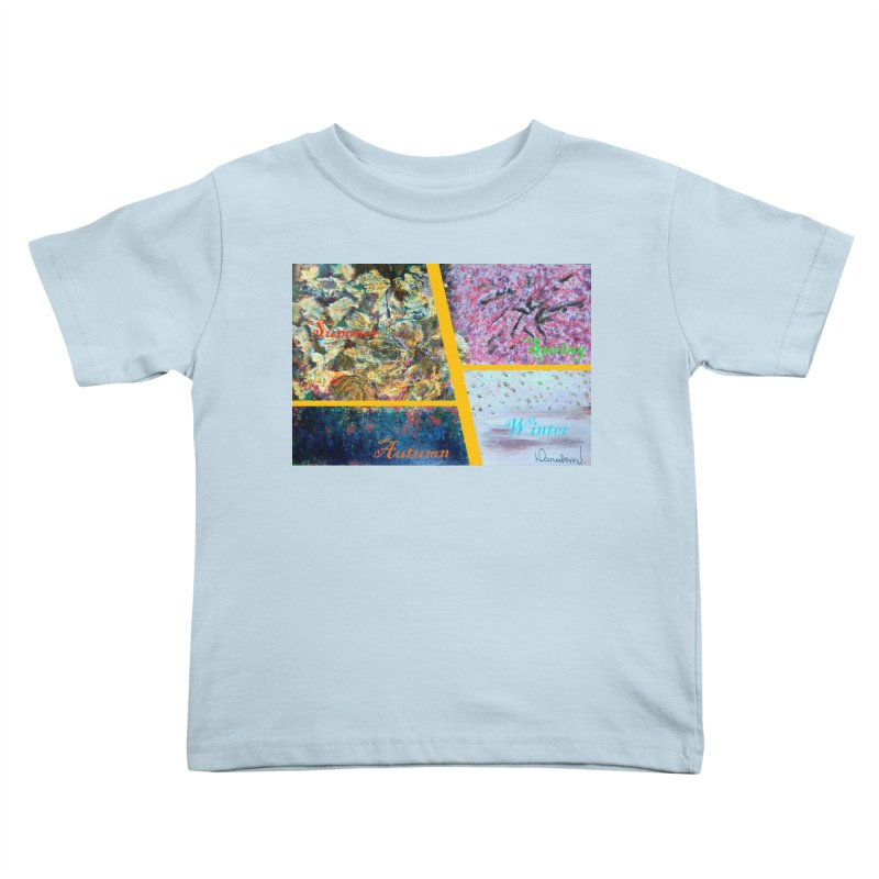 The Four Seasons Matsuo Basho Kids Toddler T-Shirt by Darabem's Artist Shop. Darabem Collection