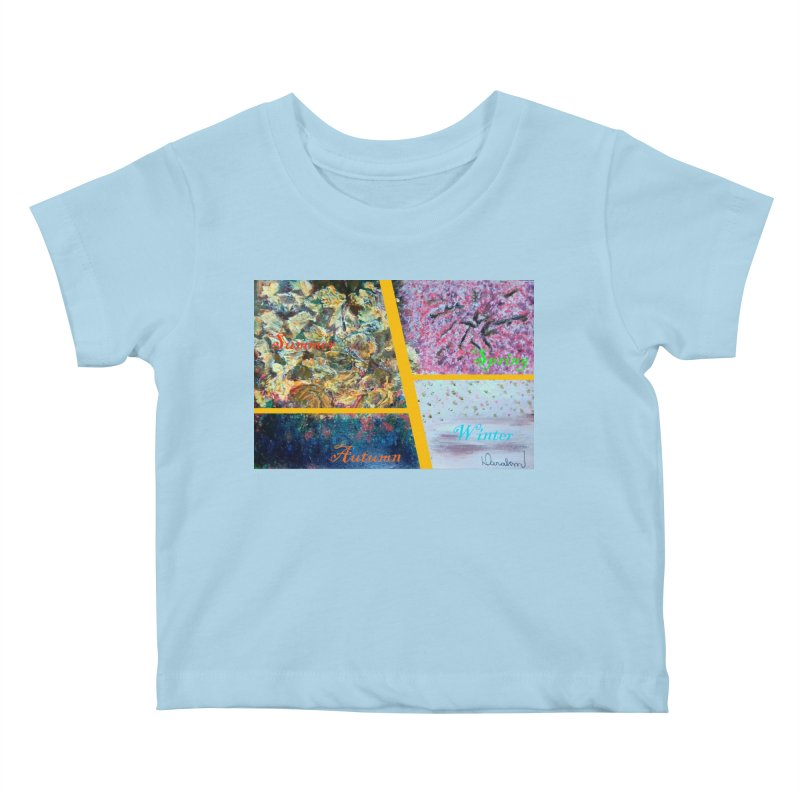 The Four Seasons Matsuo Basho Kids Baby T-Shirt by Darabem's Artist Shop. Darabem Collection